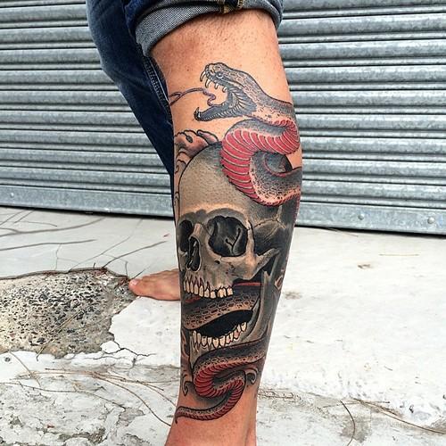 Garth-b-neale-skull-snake-leg