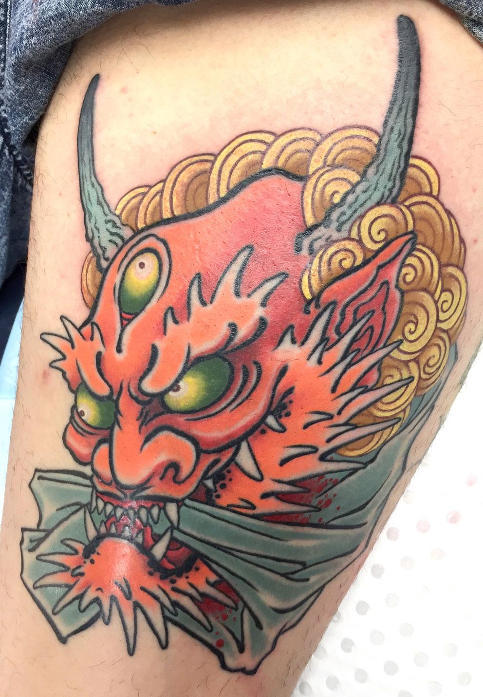 Alex Rusty - Oni namakubi japanese tattoo