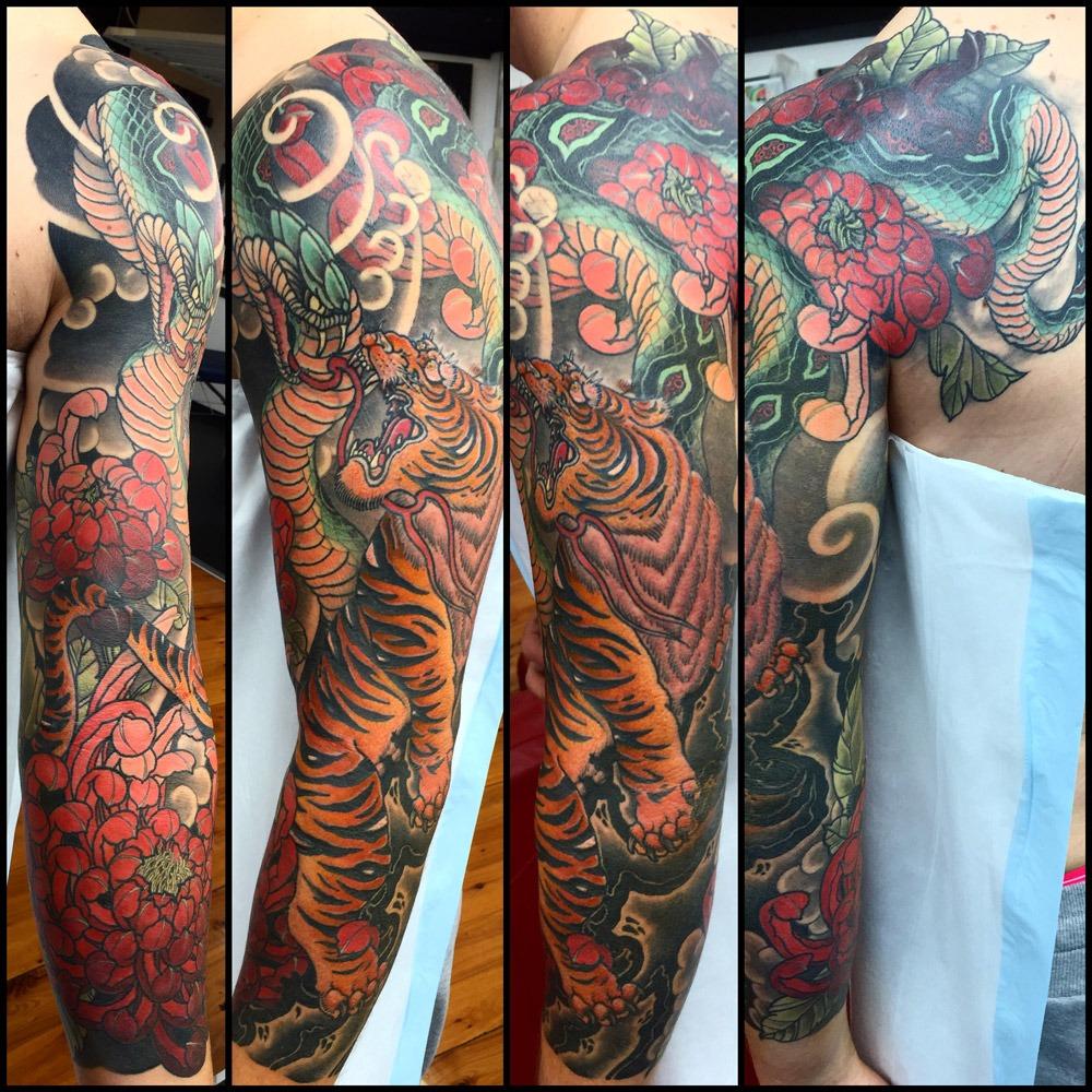 Ryan Ussher - Tiger + Snake