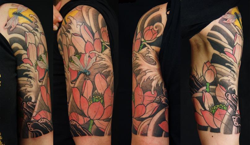 Brett Hayes - Lorrinda Lotus half sleeve
